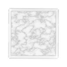 Faux White Marble Acrylic Tray