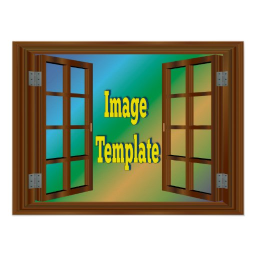 Faux window create your own poster zazzle for Build your own window