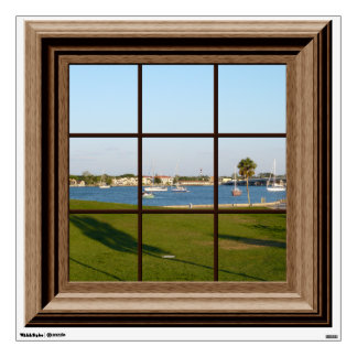 Faux Window Decal St.Augustine Boats Wall Mural Wall Decor