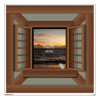 Faux Window Frame Decal Wall Mural