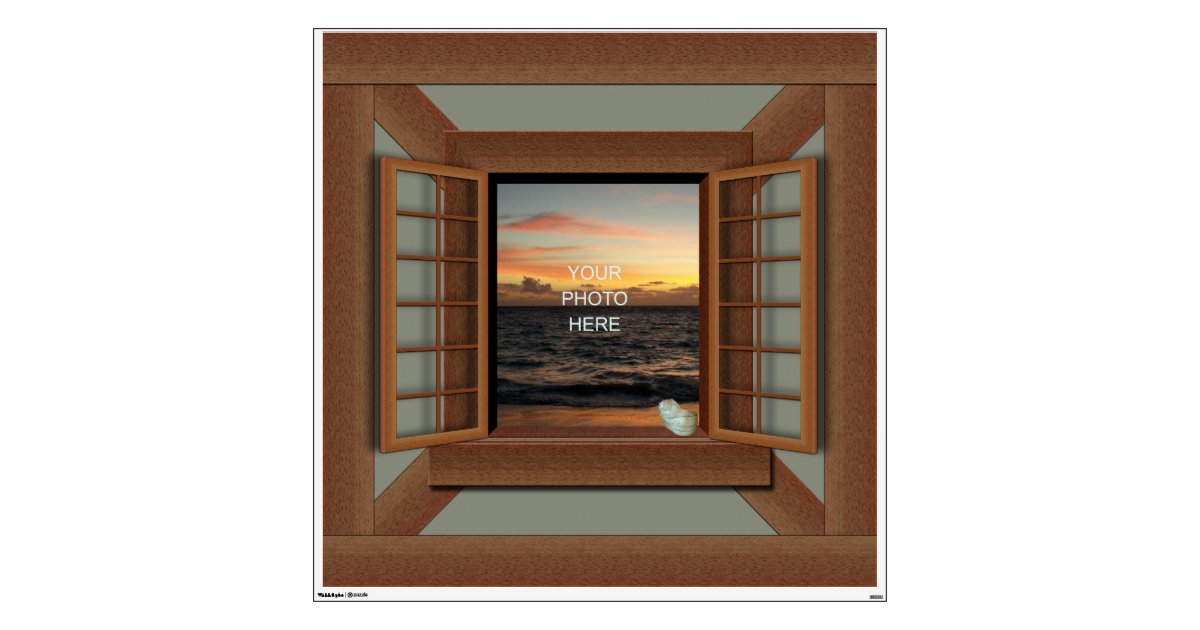 Faux Window Frame Decal Wall Mural Zazzle