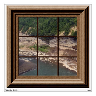 Faux Window Genesee River Gorge Mural Wall Decal