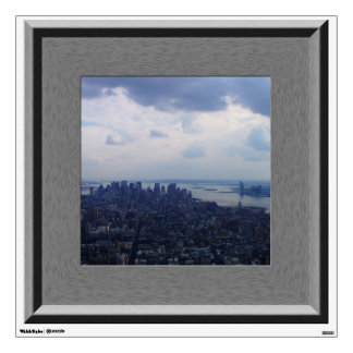 Faux Window NYC Empire State Building Mural Decal Wall Skin