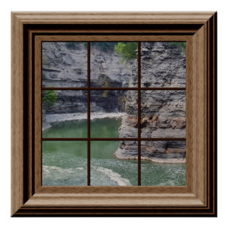Faux Window Poster Genesee River Gorge