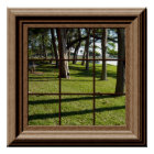 Faux Window Poster Peaceful Landscape With Trees