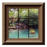 Faux Window Poster Peaceful Water Garden Zen