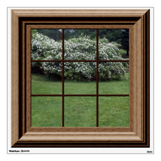 Faux Window View Decal Green Landscape Wall Mural