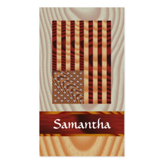 Faux wood American flag Business Cards