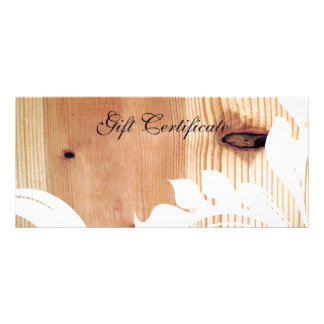 Faux Wood and White Floral Gift Certificate