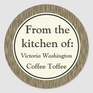 Faux Wood Bakery Kitchen Gift Tag Stickers