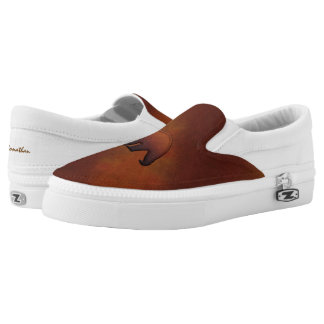Faux Wood Bears Monogram Slip on Shoes