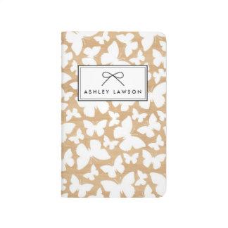 Faux Wood | Butterfly Pattern Personalized Journal