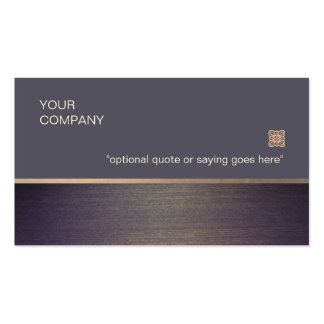 Faux Wood Elegant Business Card