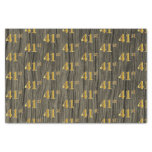 [ Thumbnail: Faux Wood, Faux Gold 41st (Forty-First) Event Tissue Paper ]
