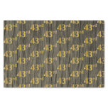 [ Thumbnail: Faux Wood, Faux Gold 43rd (Forty-Third) Event Tissue Paper ]