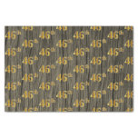 [ Thumbnail: Faux Wood, Faux Gold 46th (Forty-Sixth) Event Tissue Paper ]