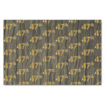 [ Thumbnail: Faux Wood, Faux Gold 47th (Forty-Seventh) Event Tissue Paper ]