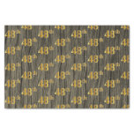 [ Thumbnail: Faux Wood, Faux Gold 48th (Forty-Eighth) Event Tissue Paper ]