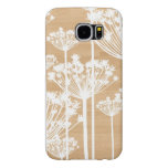 Faux wood flowers girly floral pattern samsung galaxy s6 case