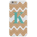 Faux Wood Grain Chevron & Monogram Customized Case