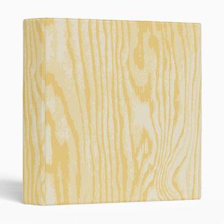 Faux wood grain pattern binder