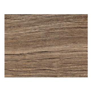 Faux Wood Grain Postcard