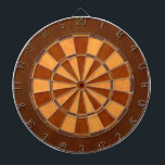 "Faux Wood Inlaid Dart Board<br><div class=""desc"">Dart board in cool colors instead of the usual red and black (or a photo where you can&#39;t see the targets).