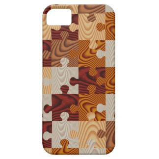 Faux wood jigsaw puzzle iPhone SE/5/5s case