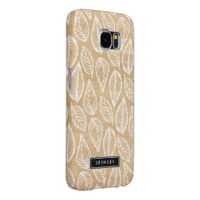 Faux Wood   Leaves Pattern Samsung Galaxy S6 Case Samsung Galaxy S6 Cases