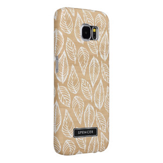 Faux Wood | Leaves Pattern Samsung Galaxy S6 Case Samsung Galaxy S6 Cases