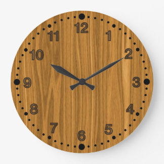 Faux Wood Look Clock for Woodturners Wood Workers