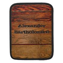 Faux Wood Oak Plank Country Western iPad Case