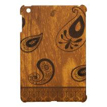 Faux Wood Paisley Cover For The iPad Mini