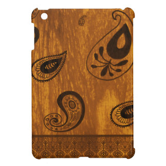 Faux Wood Paisley iPad Mini Cover