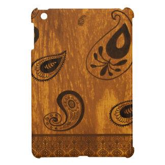 Faux Wood Paisley iPad Mini Cover
