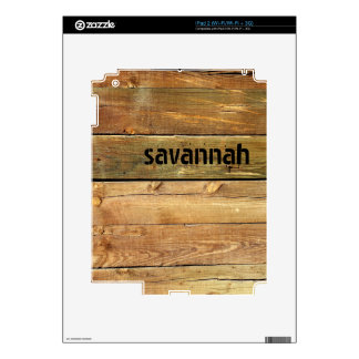 Faux Wood Personalized iPad Skin