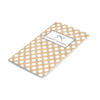 Faux Wood | Polka Dots Personalized Journal