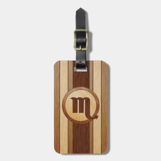 Faux Wood Scorpio Astrology Symbol Tags For Bags