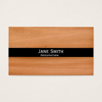 Faux wood stylish modern trendy customisable business card