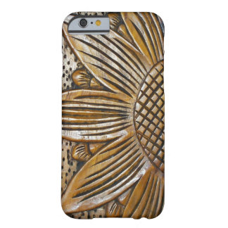 Faux Wood Sunflower Photo Print Slim iPhone 6 6S Barely There iPhone 6 Case