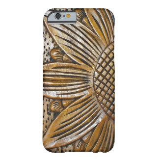Faux Wood Sunflower Photo Print Slim iPhone 6 Case