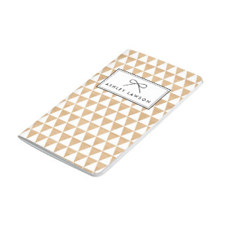 Faux Wood | Triangles Pattern Personalized Journal