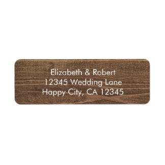 Faux Wood with Lace and Mason Jar White Label