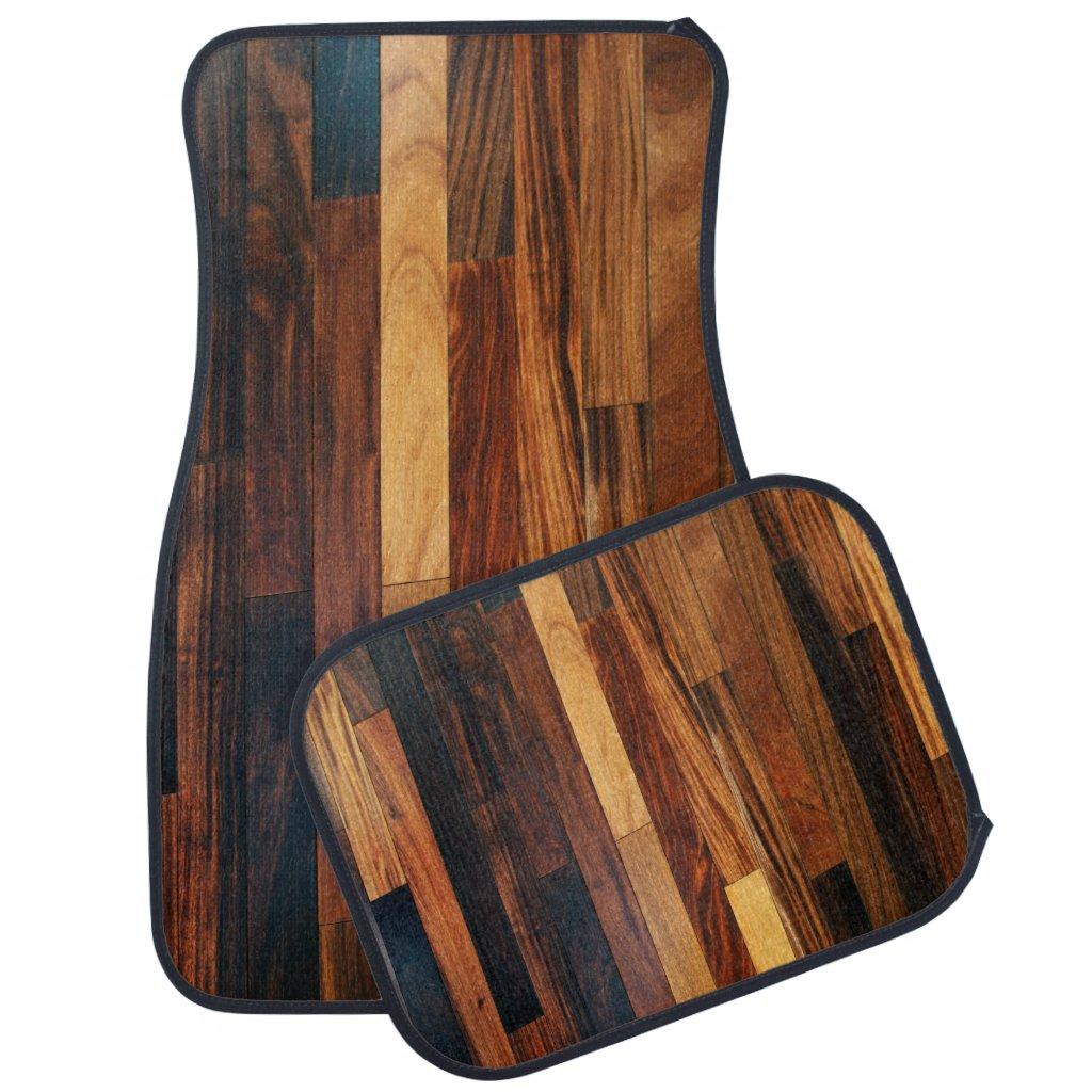 Faux Wooden Floor Slats Car Mat