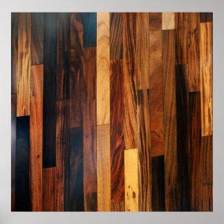 Faux Wooden Floor Slats Poster