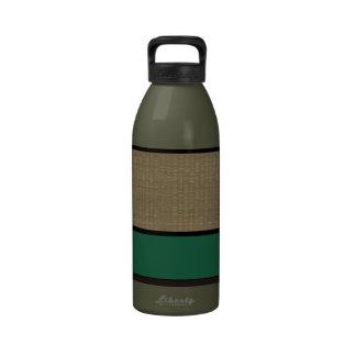 Faux Woven Green Drinking Bottle
