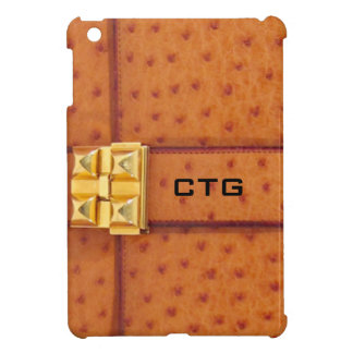 Faux  Yellow Ostrich Skin iPad Mini Case
