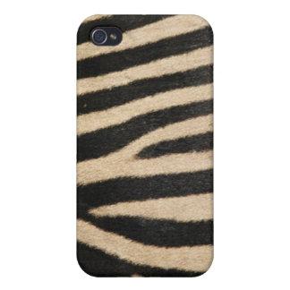 Faux Zebra Fur Case For iPhone 4