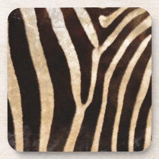faux zebra print drink coasters