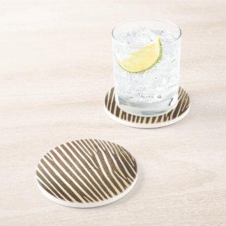 Faux Zebra Skin Pattern Drink Coaster